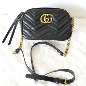 Gucci GG Marmont Shoulder Bag Black NEW